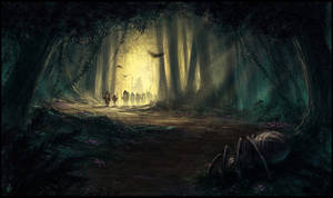 Into the Mirkwood by thalion-art