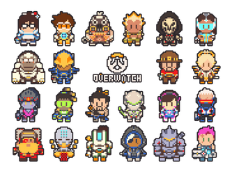 Overwatch Pixel Art by gramoxon
