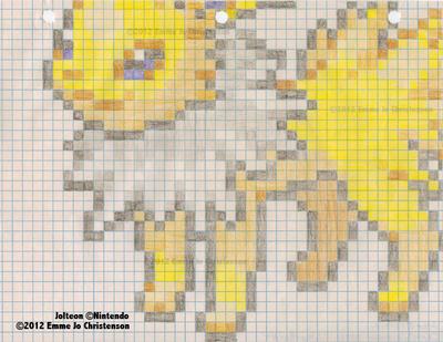 Jolteon Pixel Art by SycheTheDragon