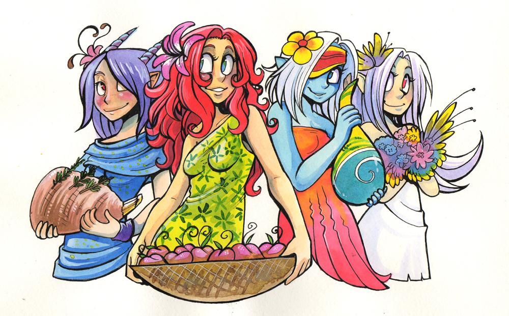 Spring Girls by Fluro-Knife
