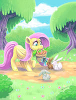 Fluttershy the Kind hearted by Fluro-Knife