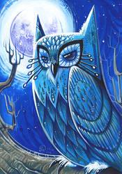 Blue Owl by Fluro-Knife