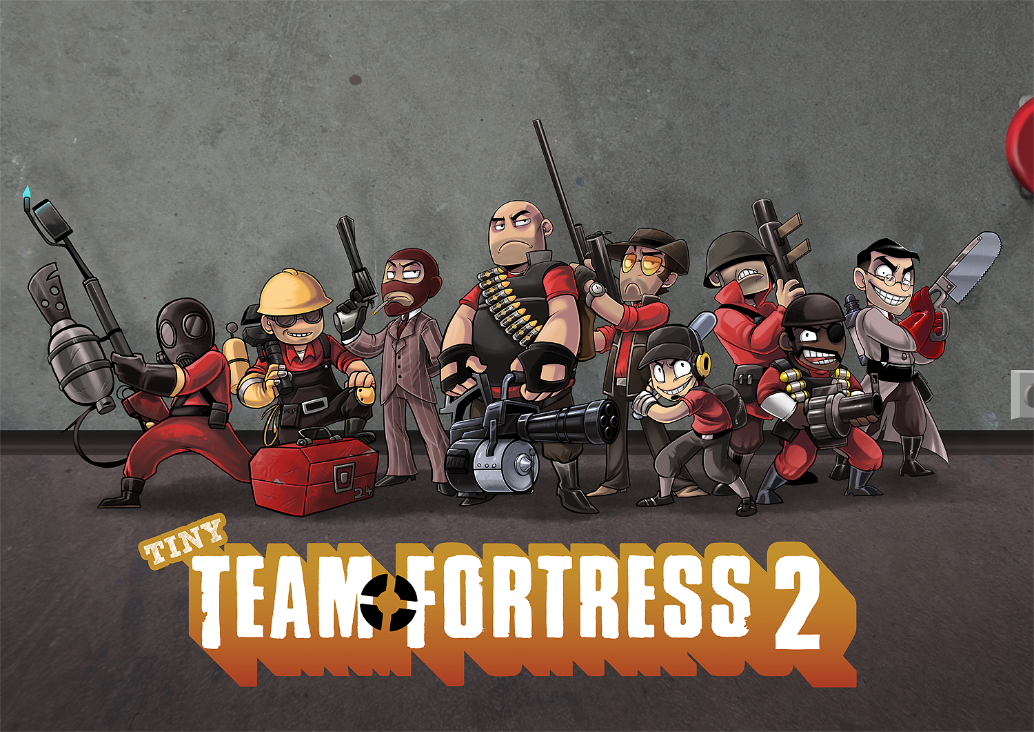 Tiny Team Fortress 2 by Fluro-Knife