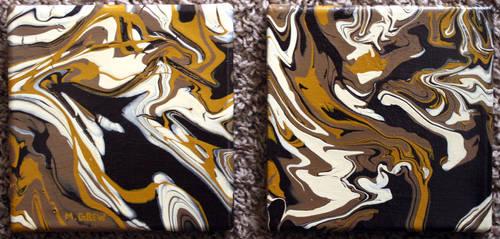 Brown Acrylic Pour by marygrew