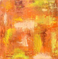 Orange Abstract Oil