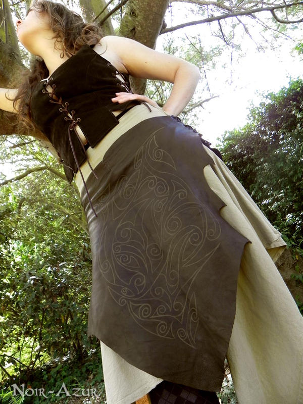 Simple tribal over-skirt 1 by Noir-Azur