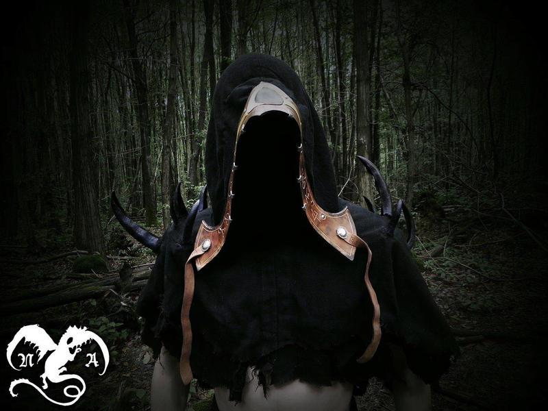 Dark prophet's hood 2 by Noir-Azur