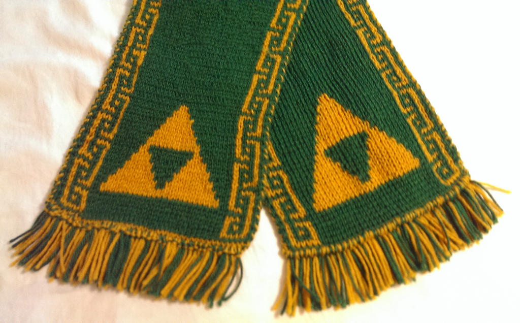 Legend Of Zelda Knitting Pattern : Legend of zelda themed scarf by yodaman on deviantart