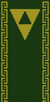 Legend of Zelda Scarf Pattern (double knitting)