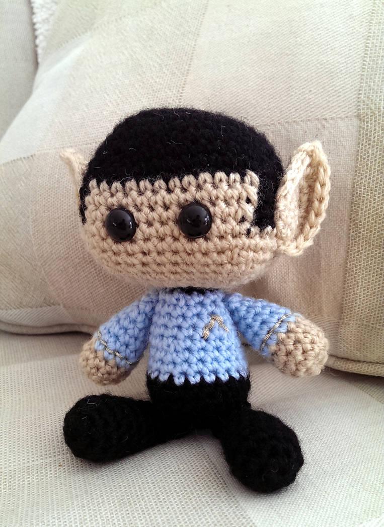 Crocheted Spock