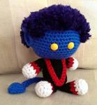 Crocheted Nightcrawler
