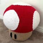 Crocheted Mario Mushroom