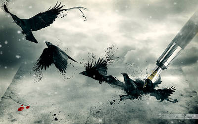Dark Wings, Dark words by oscargrafias
