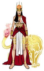 Egyptian Goddess Sekhmet by Y-I-N-L-O