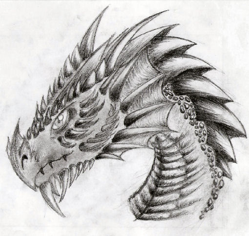 Gensther Tattoo: how to draw a dragon head