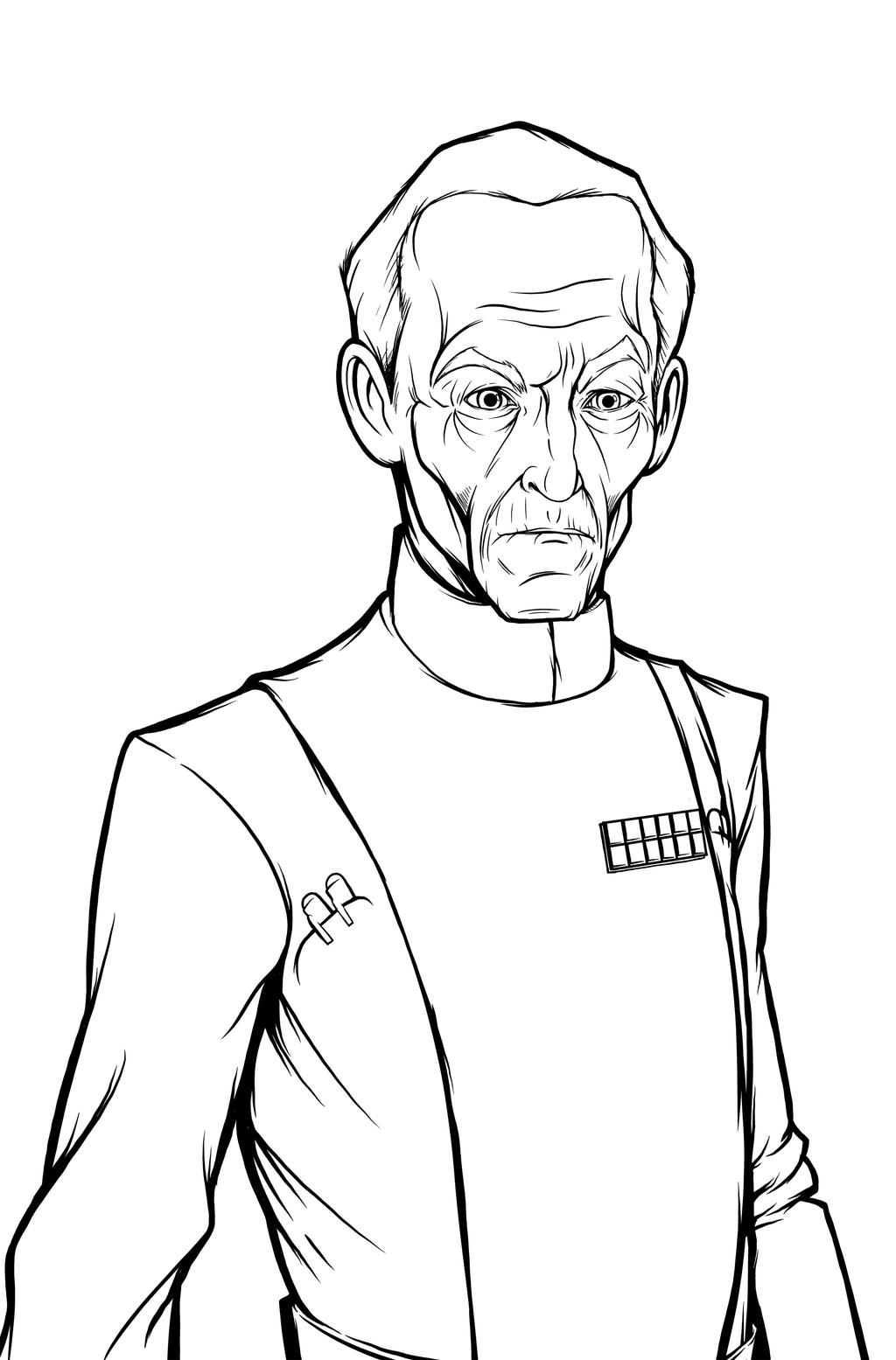 Grand Moff Tarkin Lines by JarOfComics