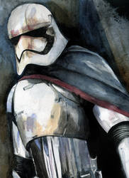 Captain Phasma in Watercolor by JarOfComics