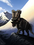 Chasmosaurus in the Mountains