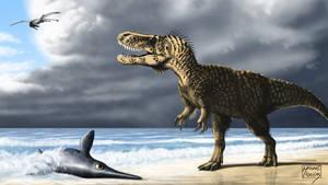 Torvosaurus gurneyi by MicrocosmicEcology
