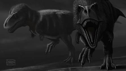 Tyrannosaurus rex by MicrocosmicEcology