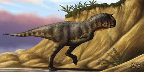 Carnotaurus sastrei by MicrocosmicEcology