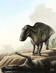 Edmontosaurus annectens by MicrocosmicEcology