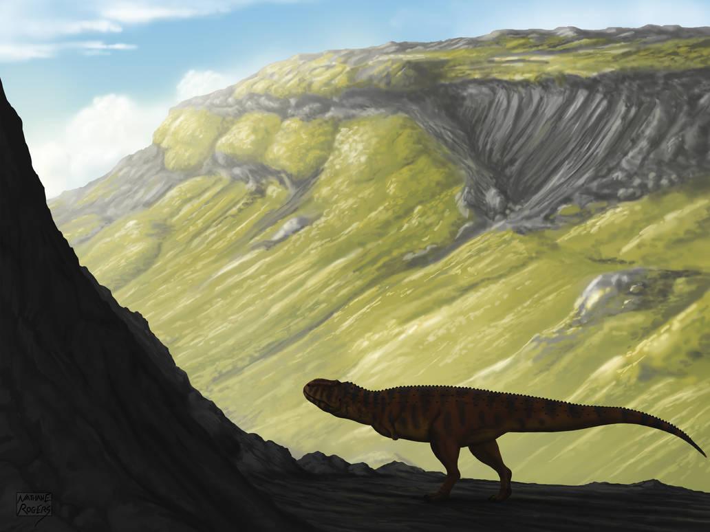 Rajasaurus narmadensis by MicrocosmicEcology