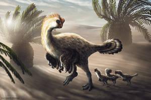 Oviraptorid Adult and Chicks