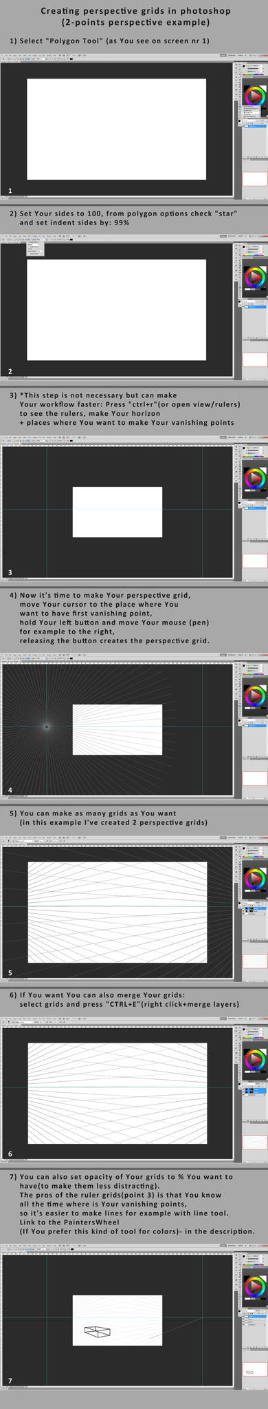 Perspective Grids In Photoshop Tutorial by tamowicz