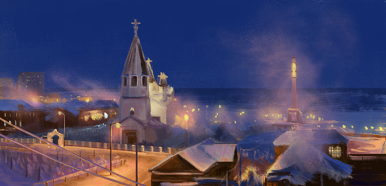 Virtual Plein Air Painting - Russia, Yakutsk by tamowicz