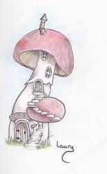 Maison,House mushroom by Laaury