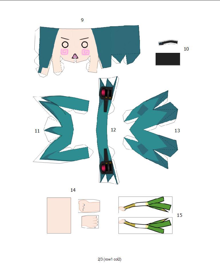 HACHUNE MIKU papercraft pg2 by kim1442