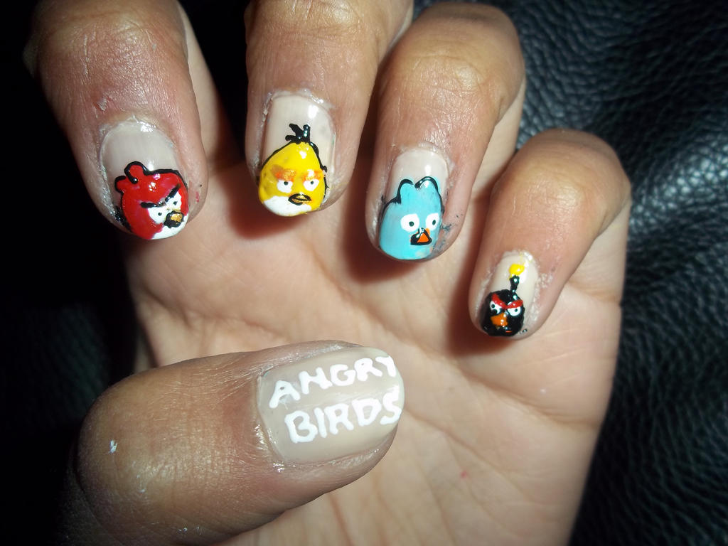 Angry birds nails by krishnails on DeviantArt