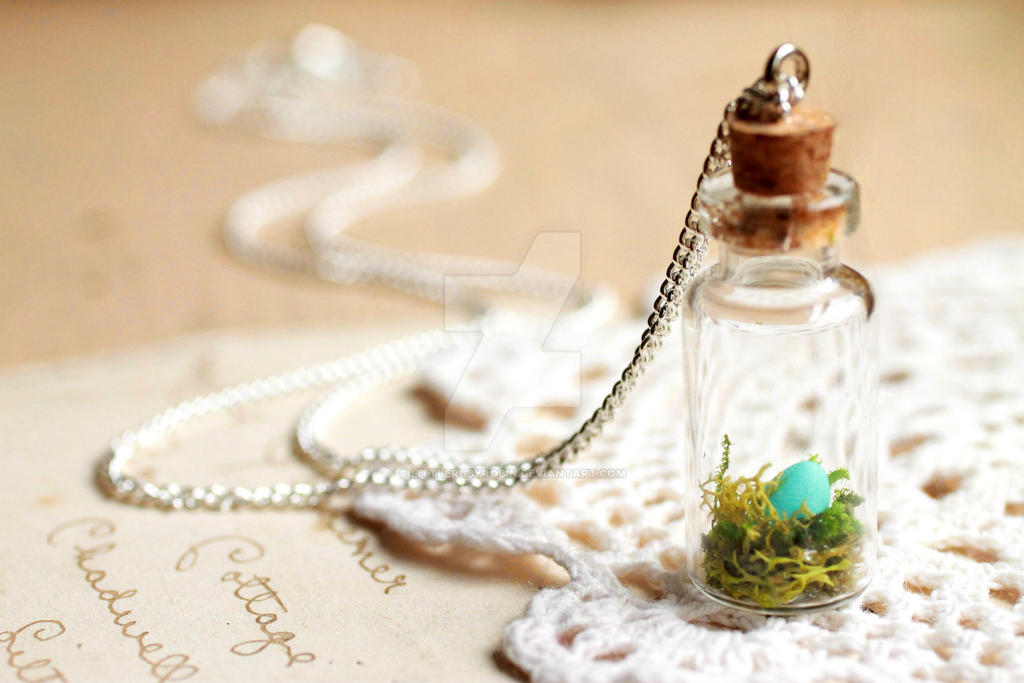glass bottle cute ocean drift necklace collections buy megadeal pendant