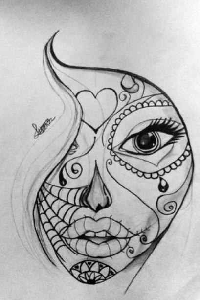 Drawing 1 Sugar Skull Doodle By 50shadesofawkward On Deviantart