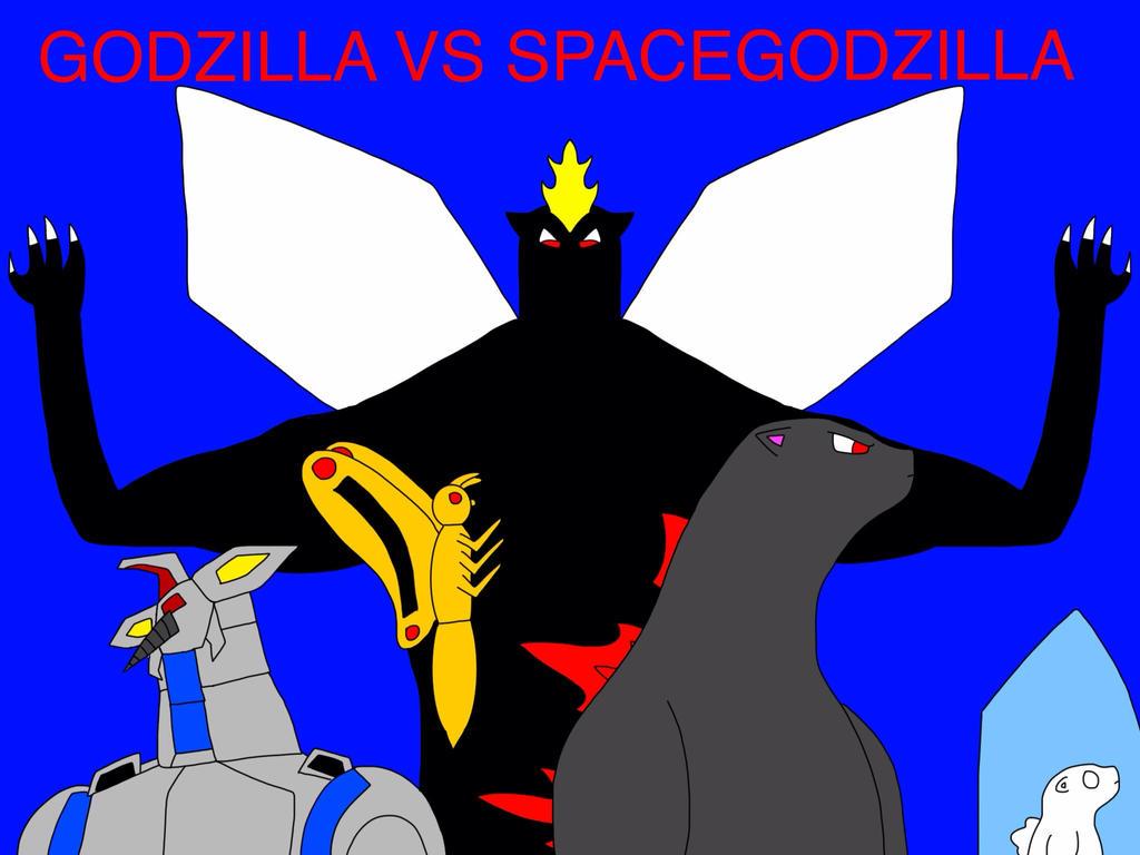 Godzilla vs Spacegodzilla by Mega-Gojira