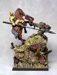 Praetorian Rough Rider vs. Ork