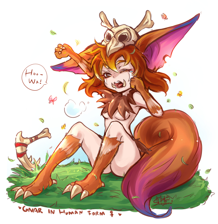 Gnar in human form! by sueyen79417 on DeviantArt