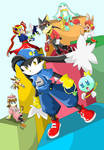 Klonoa and other characters