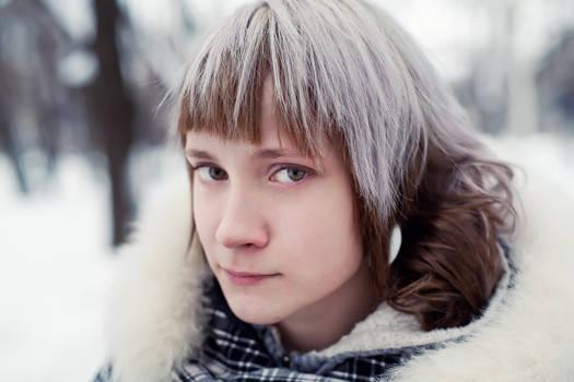 Nastya on the snowy day