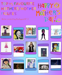 Top 15 Favourite Mothers by PrettyShadowj28