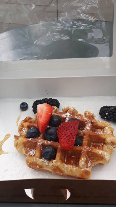 Belgian Waffle with berry