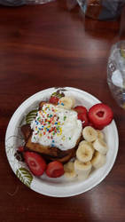 Confetti Whipped cream French Toast