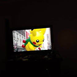 Pikachu Balloon in Thanksgiving Parade