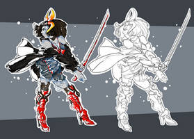 Katana Blue Auction [CLOSED] see rules! by WaxBottle