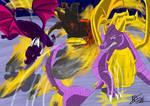 Spyro and Cynder vs Yami