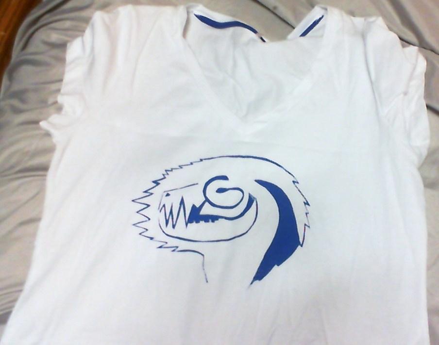 T shirt silk screen version bonefang by catastorm on for Silk screen t shirt