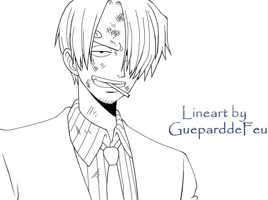 Lineart Sanji - Arc Alabasta by GueparddeFeu