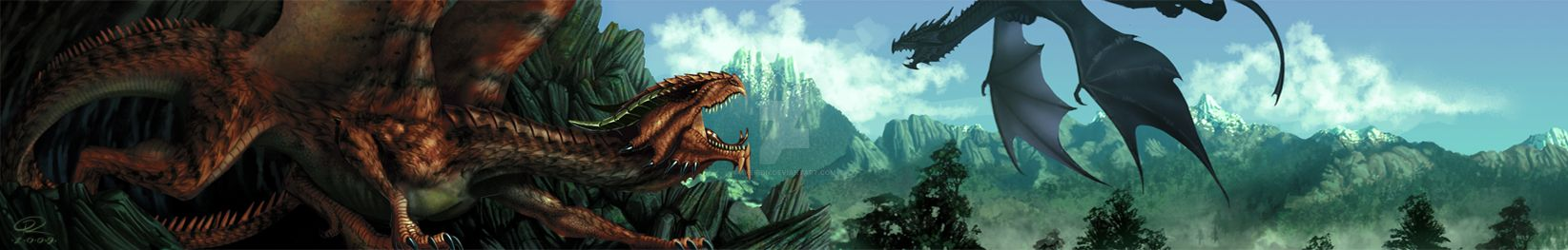 Banner Dragons' Lair by Akeiron