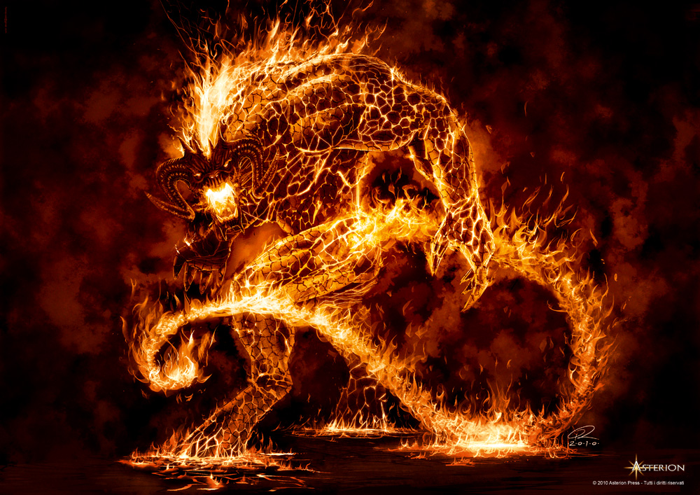 Lord Of The Rings Fire Creatures
